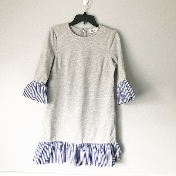 Eliza J Dresses & Skirts - Eliza J Flounce Hem Sweatshirt Dress SZ 8P